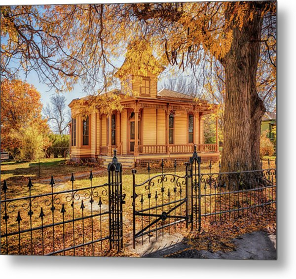Metal Print featuring the photograph A Victorian Autumn by Susan Rissi Tregoning