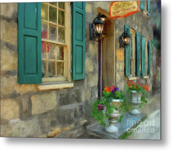 A Victorian Tea Room Metal Print