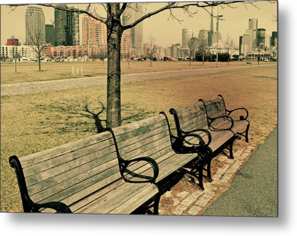 A View From A Park Bench Metal Print by JAMART Photography