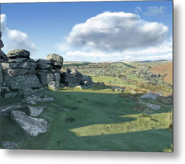 A View From Combestone Tor Metal Print