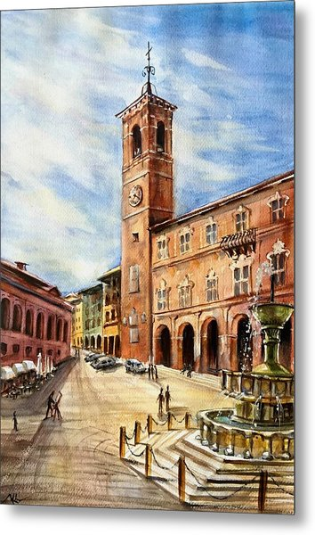 A View From Fabriano Metal Print