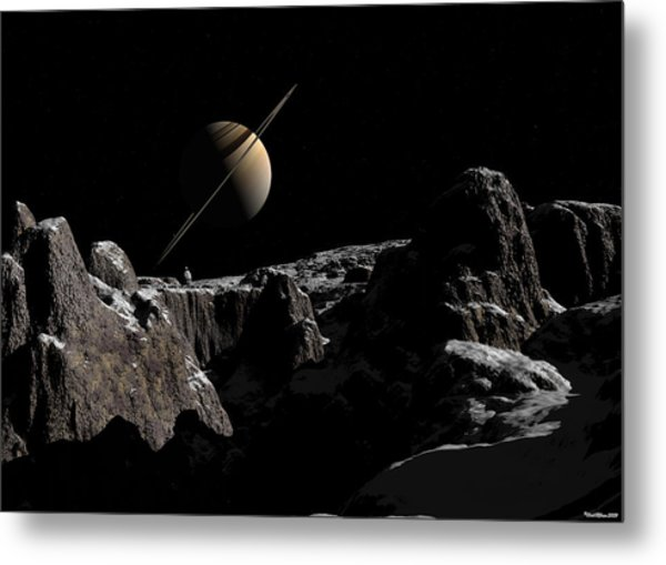A View From Iapetus Metal Print