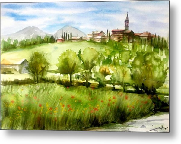 A View From Tuscany Metal Print