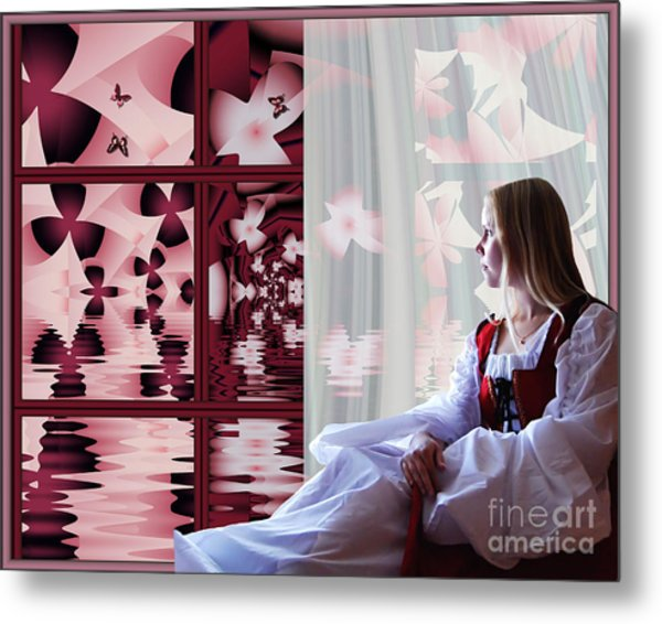 A View To The Water Garden Metal Print