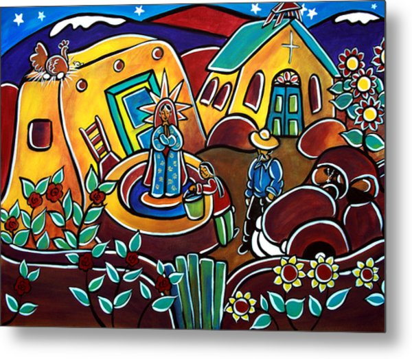 A Village For Our Lady Metal Print