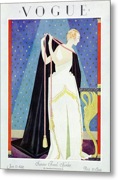 A Vintage Vogue Magazine Cover From 1924 Metal Print