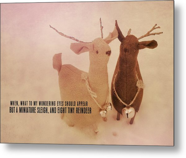 A Visit From Saint Nicholas Quote Metal Print by JAMART Photography