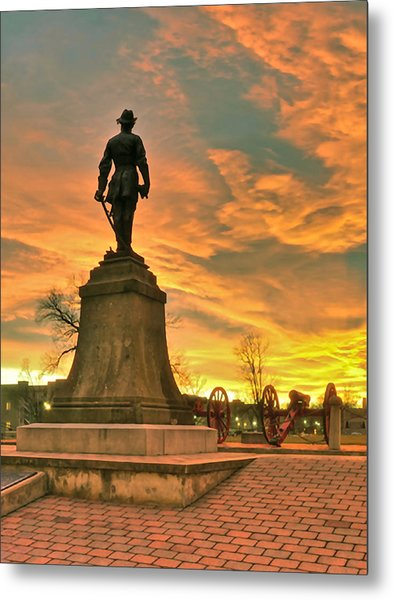 A Vmi Sunset Metal Print