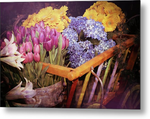 A Wagon Full Of Spring Metal Print