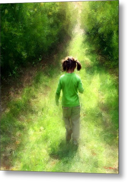 A Walk In The Orchard Metal Print