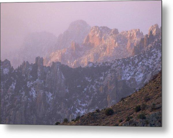 A Winter Morning At The Chiricahua Mountains'  Portal Peak Metal Print