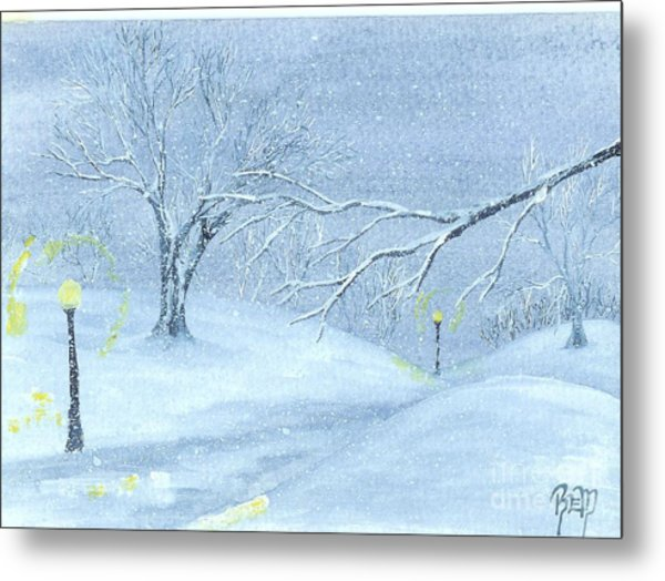 A Winter Walk... Metal Print by Robert Meszaros