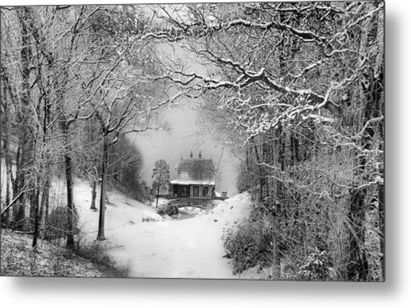 A Winter's Tale In Centerport New York Metal Print