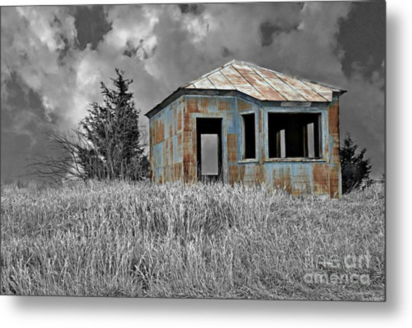 Abandon Railroad Shack Metal Print