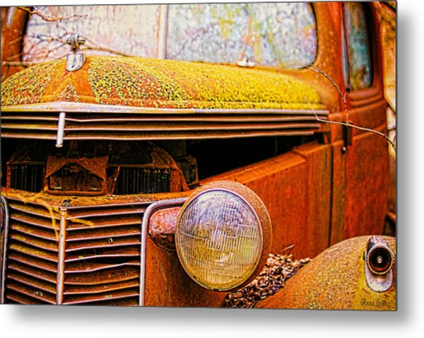 Abandoned Antique Truck 2 Metal Print