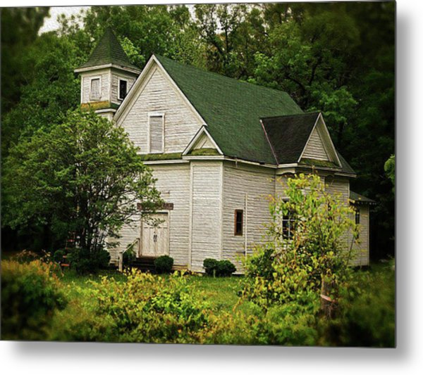 Abandoned Church - Louisiana Metal Print