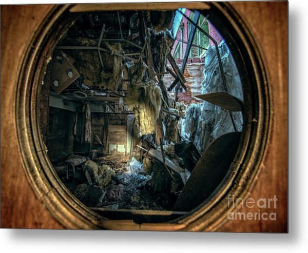 Abandoned Decay Metal Print