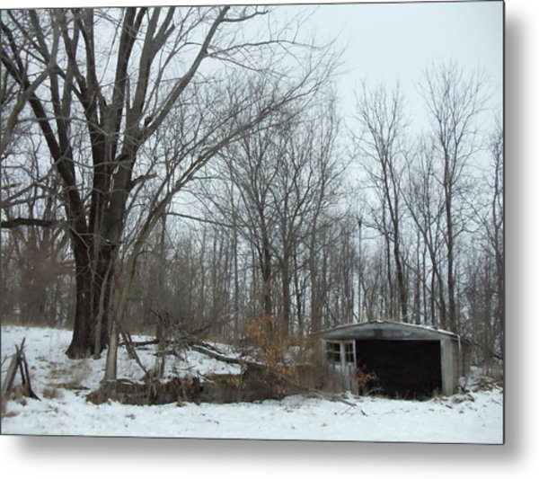 Abandoned Farm Metal Print by David Junod