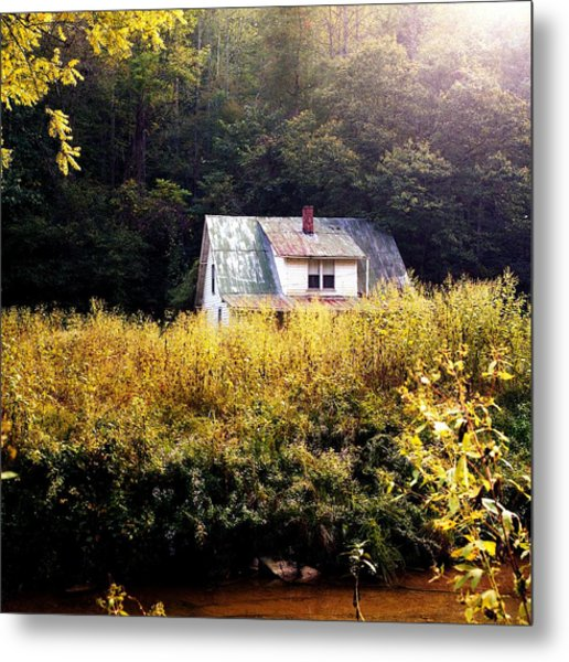Abandoned Farm Home Metal Print by George Ferrell