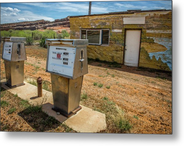 Abandoned Gas Station Metal Print