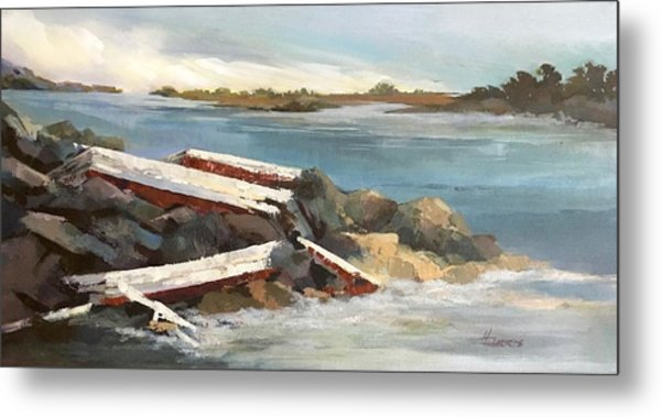 Metal Print featuring the painting Abandoned by Helen Harris