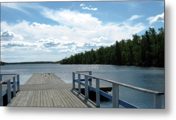 Abandoned Jetty Metal Print