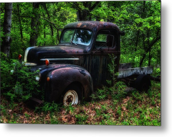 Abandoned - Old Ford Truck Metal Print