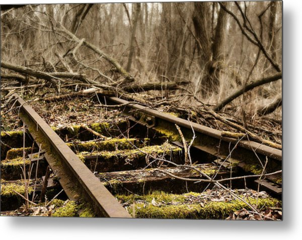 Metal Print featuring the photograph Abandoned Railroad 1 by Scott Hovind