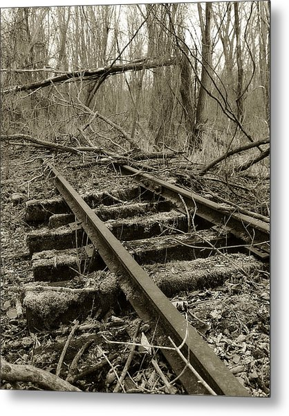 Metal Print featuring the photograph Abandoned Railroad 2 by Scott Hovind