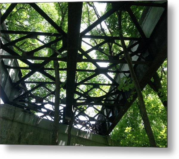 Abandoned Railroad Bridge Metal Print