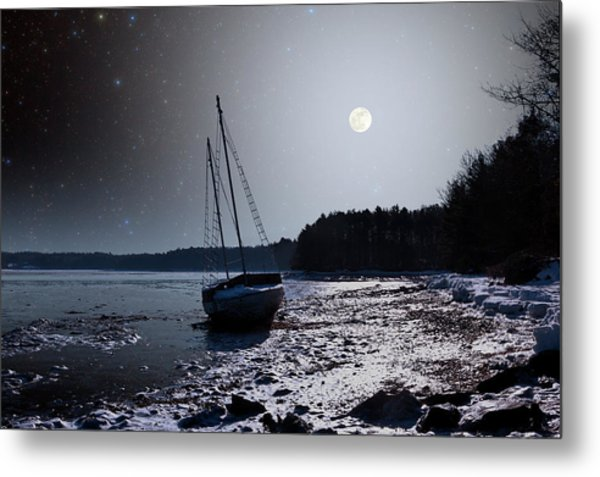 Abandoned Sailboat Metal Print