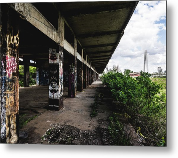 Abandoned Structure - Laclede's Landing Metal Print by Dylan Murphy