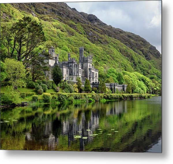 Abbey By The Lake Metal Print