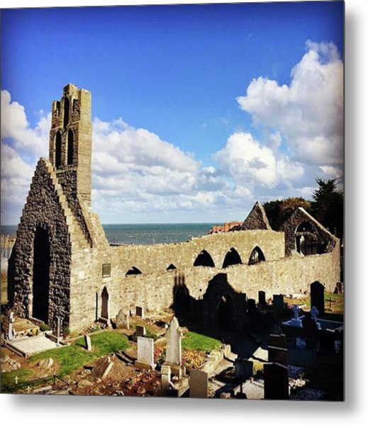 #abbey #church #ruins #gothic #cemetery Metal Print