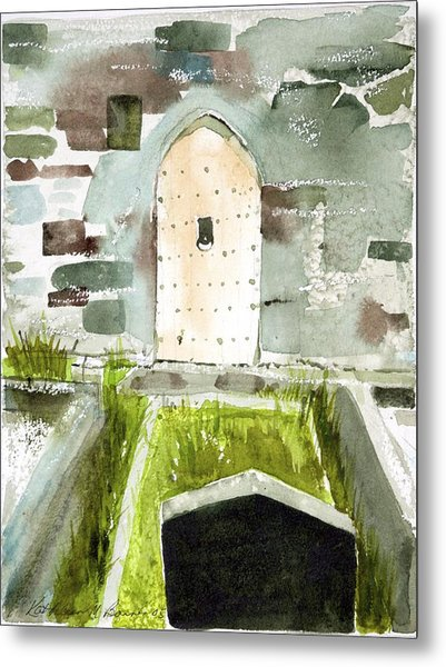 Abbey Door Metal Print