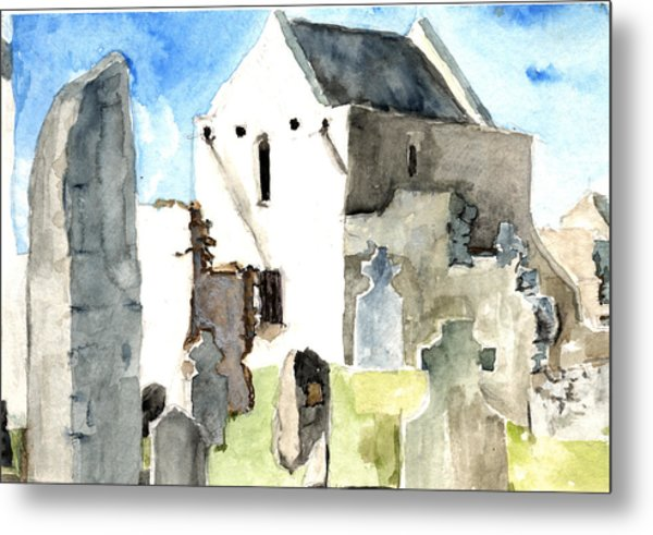 Abbey Watercolor Metal Print