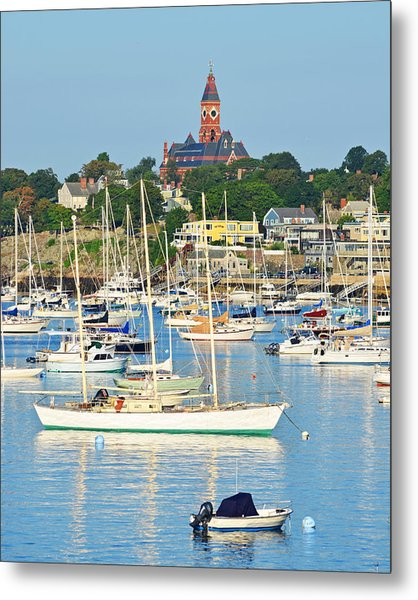 Abbot Hall Over Marblehead Harbor From Chandler Hovey Park Metal Print