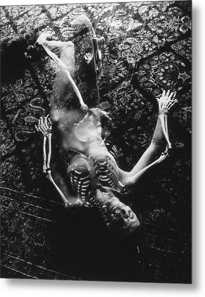 Nude Abby  Martha And Death Metal Print