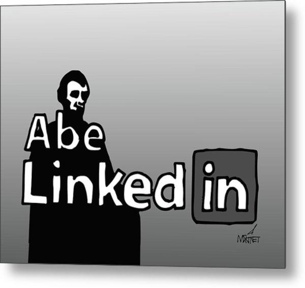 Abe Linkedin Metal Print