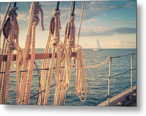 Aboard The Edith M Becker Metal Print