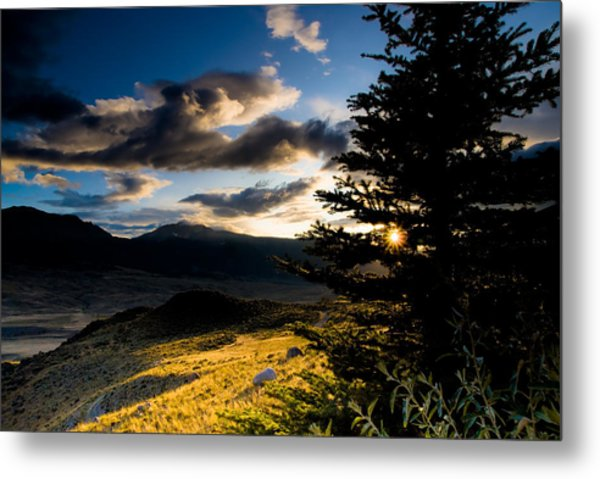 Above Gardiner Montana Metal Print by Patrick  Flynn