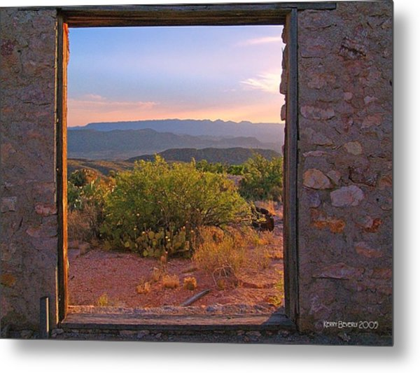 Above Lajitas Metal Print