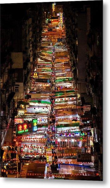 Above Temple Street Night Market Metal Print by Luke Finch