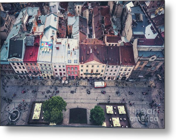 Above The Rooftops Metal Print
