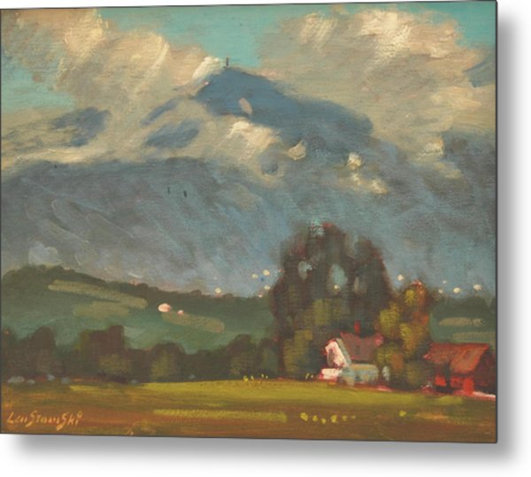 Above Toporowski Farm Metal Print