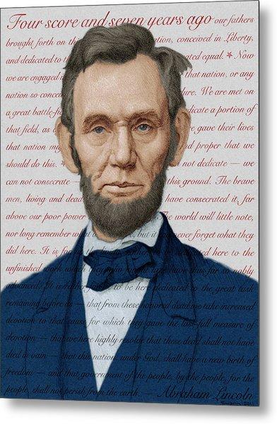 Abraham Lincoln - Patriotic Palette Metal Print