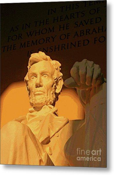 Abraham Lincoln Sunrise Metal Print