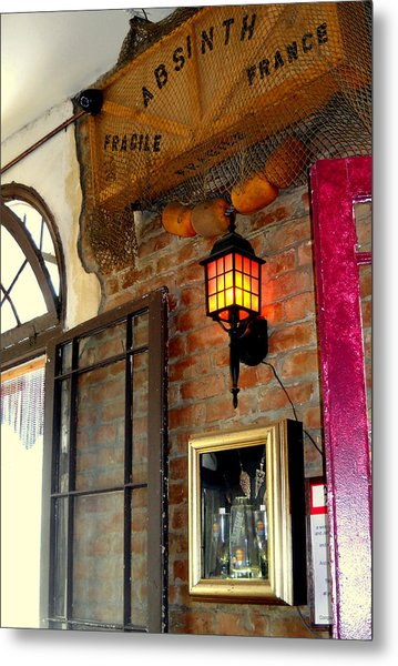 Absinthe Bar Metal Print by Ted Hebbler