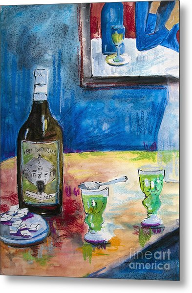 Absinthe For Two Metal Print