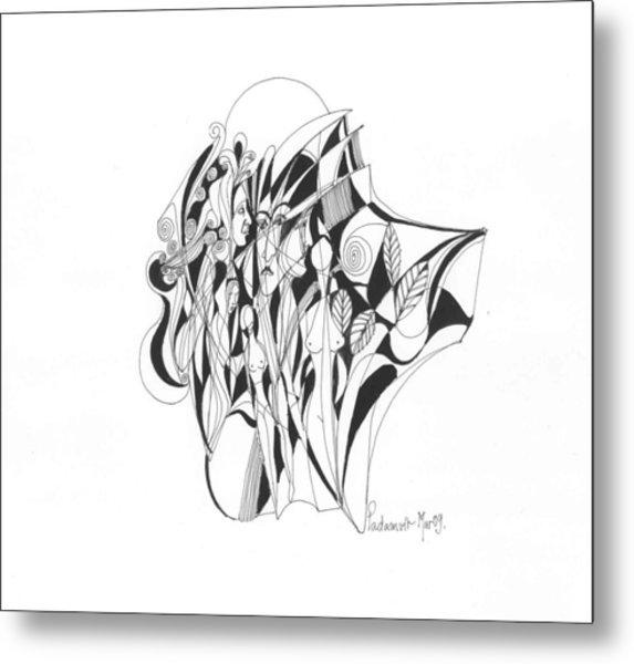 Abstract 1-09 Metal Print by Padamvir Singh
